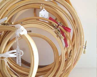 Vintage Embroidery Hoop Set {19}: Vintage Wedding Decorations, Sew Sweet Theme, Supply Lot, Thread Hoops