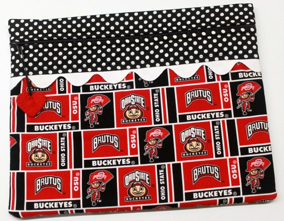 Ohio State Buckeyes Cross Stitch, Embroidery Project Bag