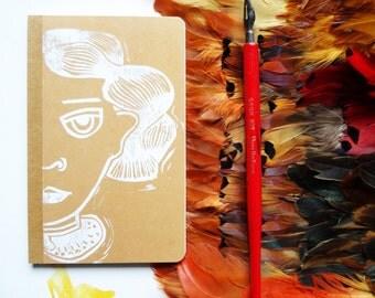 Handprinted  A6 notebook with original artwork