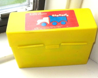 Vintage 1989 Highlights Plastic Stencils with Case