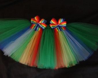"St. Patrick's day tutu ""Under the Rainbow"" custom made sizes Newborn-4t"