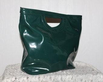Vintage Hand Bag Gianni Bini Purse Faux Patent Leather