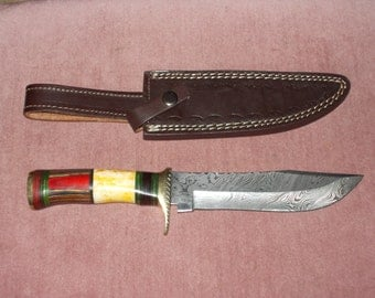 Hunting knife ((( damascus steel blade )))
