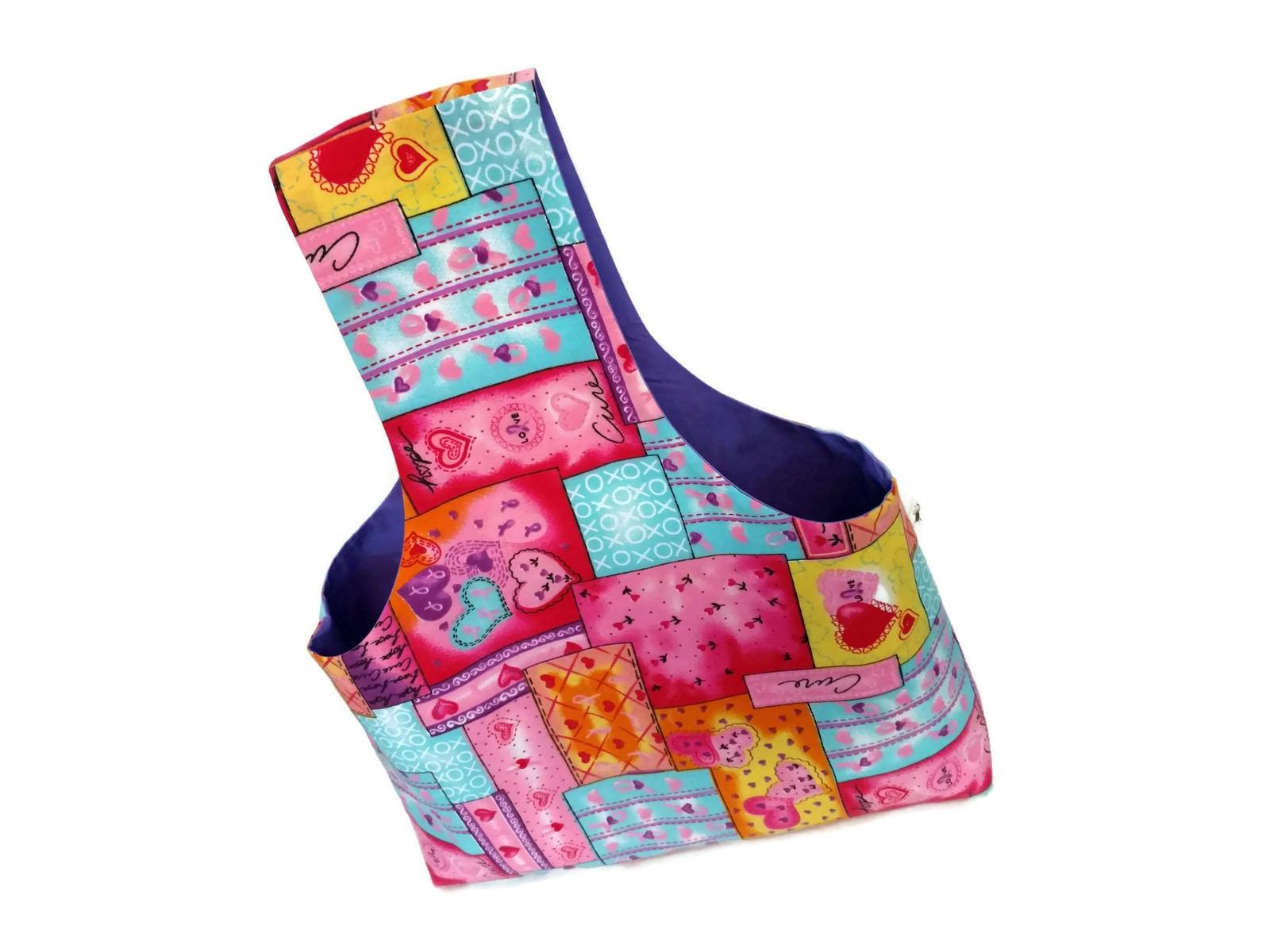 Knitting Yarn Bdo : Large yarn bag breast cancer awareness hearts and flowers