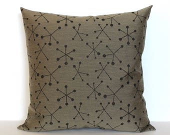 Brown Pillow Cover Mid Century Pillow Upholstery Fabric Throw Pillow Cover Decorative Pillow Euro Sham 26x26 24x24 22x22 20x20 18x18 16x16