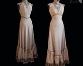 Art Nouveau style gown, beige, romantic wedding gown, victorian, Somnia Romantica, approx size medium, see item details for measurements