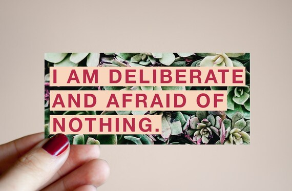 Afraid of Nothing Sticker | Feminist Gift Guide