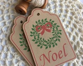 Christmas Wreath gift tags ~ set 15 ~ Christmas tags
