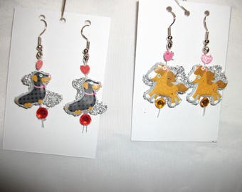 Cute Horse n Dog Earrings