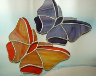 Stained glass butterflies/ Butterflies are Free/ Glass window decor/butterfly bush/handmade special gift/free gift wrap