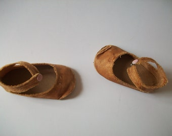 antique doll shoes | vintage shoes for dolls | antique doll accessories | assemblage supplies | tiny shoes for mixed media art | altered