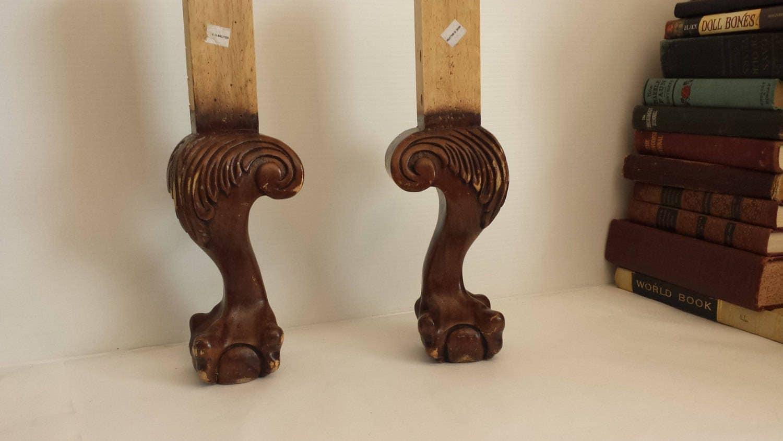 Furniture Legs Nz 2 salvaged wood chair legs   clawfoot chair legs   furniture legs