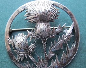 On Sale Antique Sterling Thistle Brooch Mid Century Modernist Pin By E A Day