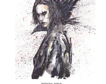 The Crow 11x14 Art Print by Adam Michaels