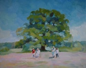Original oil painting, made to order. Family tree. (Reserved)