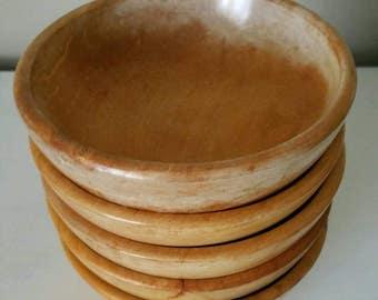Vintage Wooden Bowls Set Wood Bowl Wood Bowls Wooden Farmhouse Bowls Wood Serving Bowls Wooden Serving Bowls Vintage Serving Made in Japan