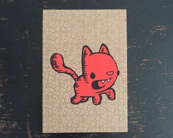 Kitty Mini Sketchbook, kitty notebook, kid's sketchbook, mini notebook, cat notebook, pocket sketchbook