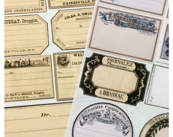 Vintage Apothecary Druggist Label Stickers