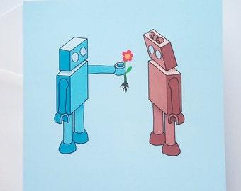 Robot Anniversary Card