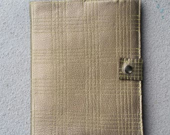 Stitched Bronze Leather Journal