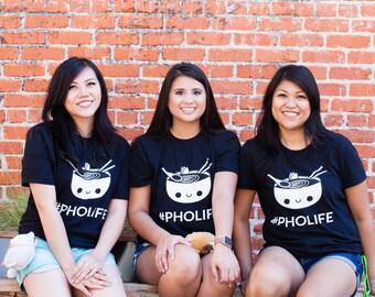 Pho tshirt - Kawaii Tshirt - Cute Tshirt - Pho Bowl - Foodie Gift Idea - Men Shirt - Cute Womens Tee - Adult Tshirt - Graphic Tee - Unisex