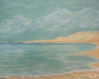 Blue Seascape, Nautical Art, Teal Ocean Art, Turquoise Coastal Decor, Bathroom  Decor, Coastal Wall Art, Beach Home Decor, Beach House