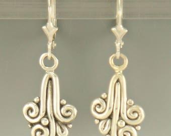 ER517- Sterling Silver Triple Swirl Handmade Earrings
