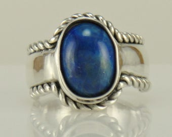 R1087- Sterling Silver Lapis Ring- One of a Kind