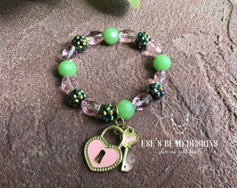 Key to My Heart Spring Bracelet