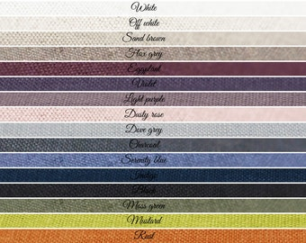 Linen fabric sample Two colors Lovely Home Idea