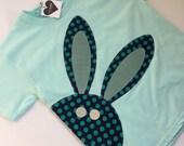 Custom bunny shirt minty aqua
