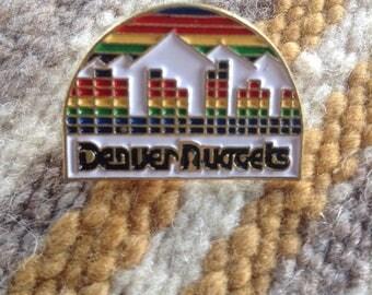 Vintage Denver Nuggets NBA basketball pin