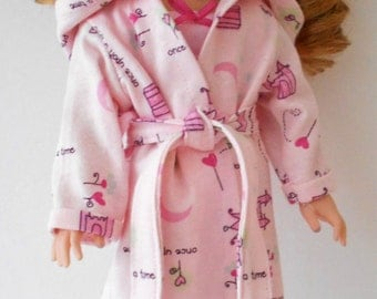 """Princess pajamas and robe fit Wellie Wishers 14 1/2"""" dolls"""