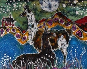 Llamas Mousepad  - Hills Alive With llamas  -  mousepad from original batik by Carol
