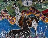 Llamas Mousepad  - Hills Alive With llamas  -  mousepad from original batik by Carol