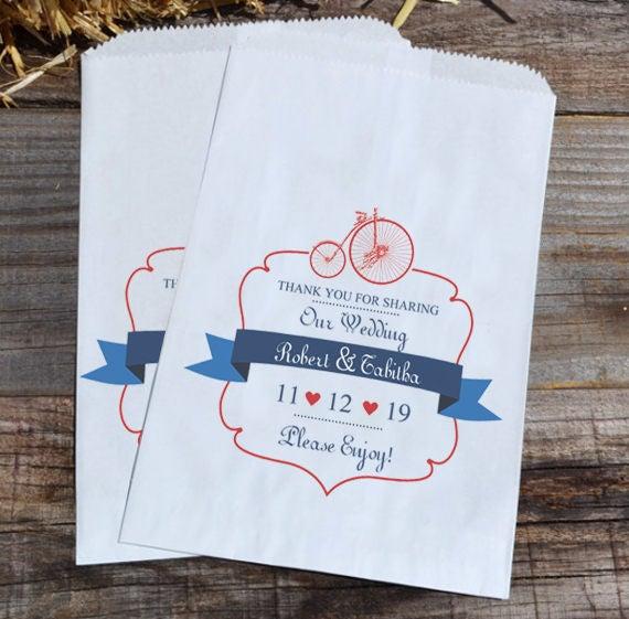 Wedding Candy Bags Bicycle