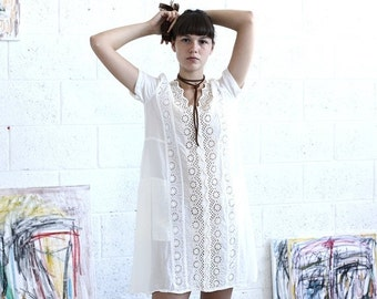 Pre Winter Sale 15% white dress-white silk dress-white-short sleeve midi dress