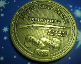 NRA Token for Springfield Rifle M1903 AU National Rifle Association vintage 70's