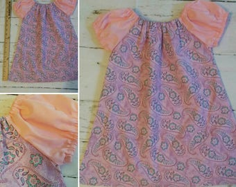 Ready to ship OOAK Peasant Dress, Cotton Dress, Size 12-18 mos, Little Girl's Dress