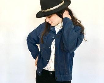 Vintage 70svDenim Jacket Western Wear Farmhand Americana Jacket