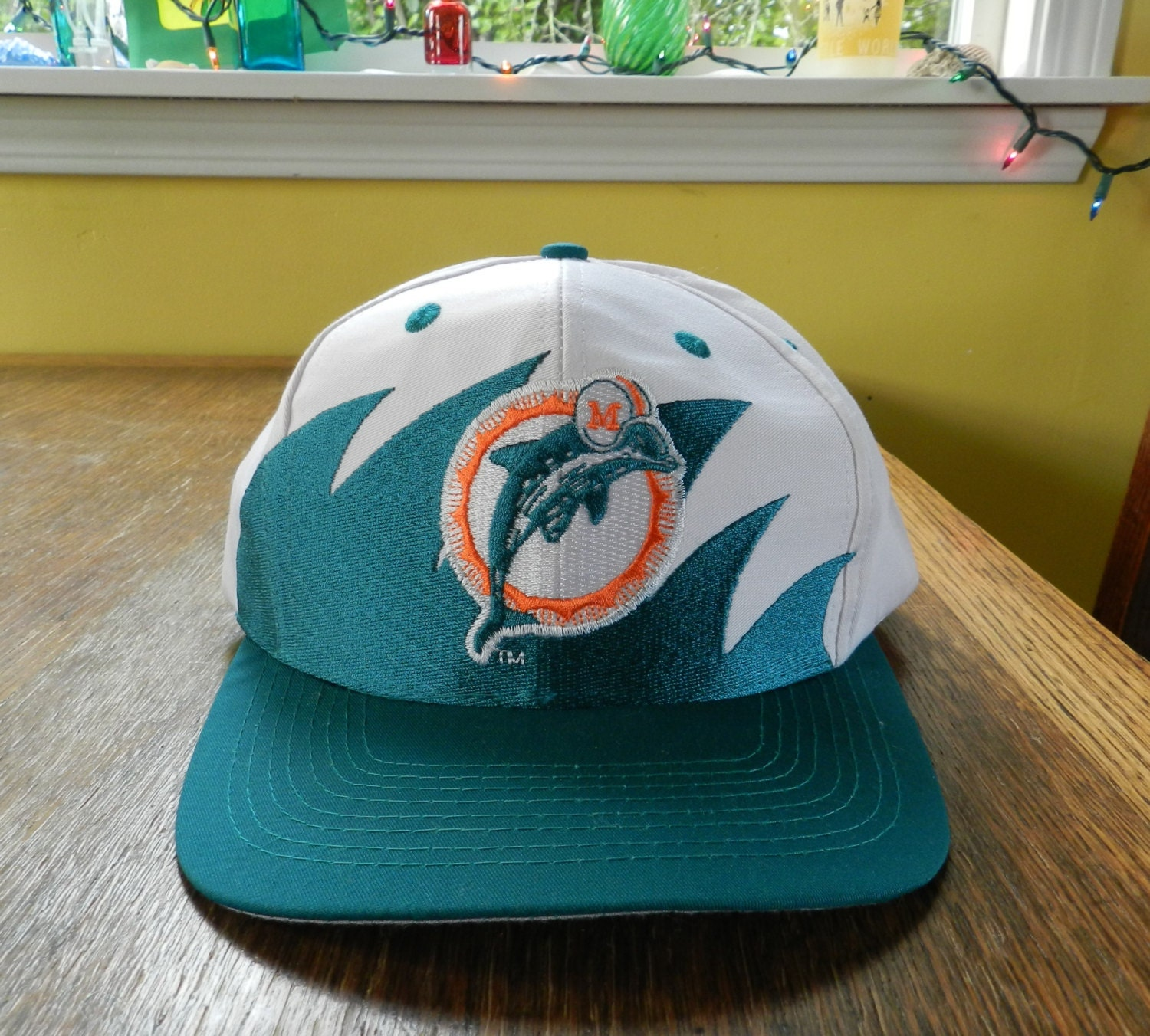 fa37fbb4f ... inexpensive vintage miami dolphins hat snapback cap 90s logo 7  sharktooth design one size mint splash