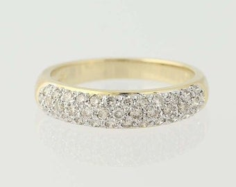 Diamond Band Ring - 14k Yellow Gold Wedding Anniversary .50ctw N6486