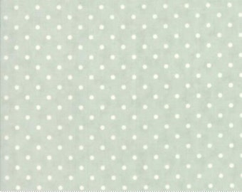 Poetry Prints Mist on Dots, 44137 14 by 3 Sister of Moda Fabrics, Sold in Half Yard Amounts