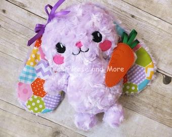Bunny Stuffie, Plushie, Stuffed Rabbit
