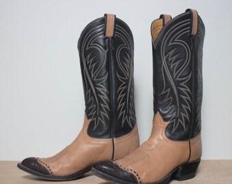 40% off SALE 7 D | Men's Vintage Tony Lama Cowboy Boots Lizard Wing Tip Western Boot