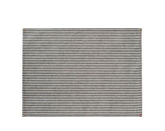Black Broad Stripe Placemat Set