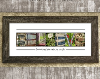 She Believed She Could So She Did Believe Sign Believe in Yourself Gift for Mom Gift for Daughter Alphabet Art Photos Inspirational Gift