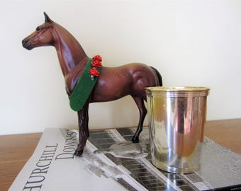 Kentucky Derby silver plated mint julep cup.  Beautiful for beverages or decor.  Silver trophy cup.  Derby cup.