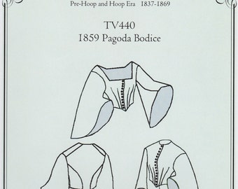 TV440, 1859 Pagoda Bodice Sewing Pattern by Truly Victorian