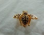 Joan Rivers royal purple bee pin vintage brooch unused